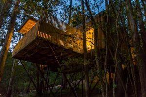 casa del árbol con jacuzzi en galicia