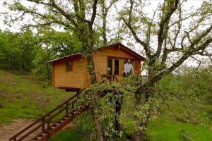 cabaña bosque en extremadura