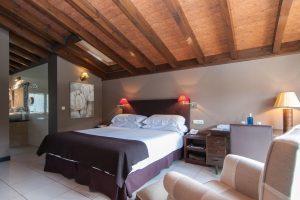 Moderno hotel con jacuzzi en la habitación en Singuenza